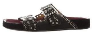 Isabel Marant Embellished Slide Sandals