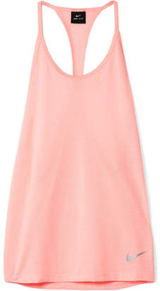 Nike Tailwind Perforated Dri-fit Stretch-jersey Tank - Baby pink