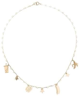 Malaika Raiss gold plated food pendant necklace