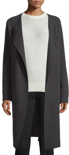 JOSEPH Joseph Long Wool Wrap Coat, Gray