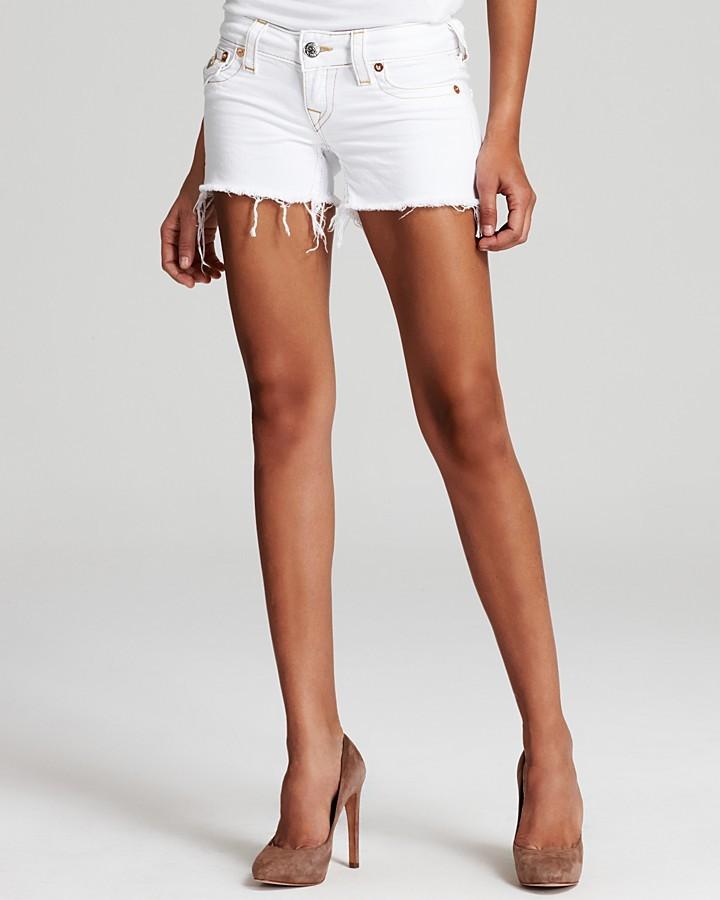 True Religion Shorts - Keira Cut Off Denim Shorts