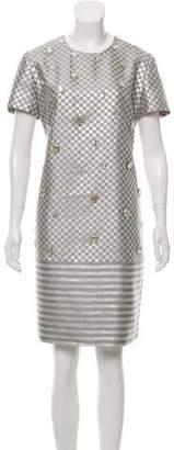 Giles Metallic Knee-Length Dress