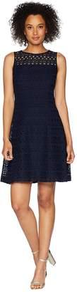 Lauren Ralph Lauren 148H Embroidered Mondriana Sleeveless Day Dress Women's Dress