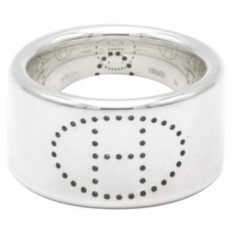 Hermes Eclipse silver ring