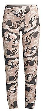 Monrow Women's Knit Camo Wool & Cashmere Sweatpants