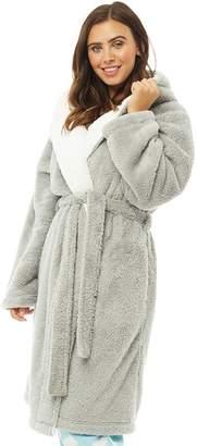 9c8c07dd60 at MandMDirect.com · Board Angels Womens Wellsoft Hooded Robe Grey