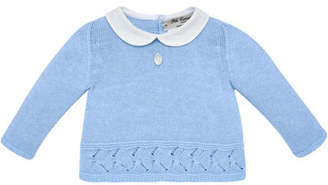 Carrera Pili Collar Knit Sweater w/ Matching Footed Leggings, Size 1-6 Months