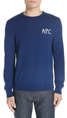 A.P.C. Logo Merino Wool Sweater