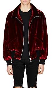 Amiri Men's Velvet Oversized Puffer Jacket - Md. Red
