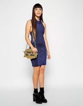 Asos Co-Ord Skirt In Metallic Knit