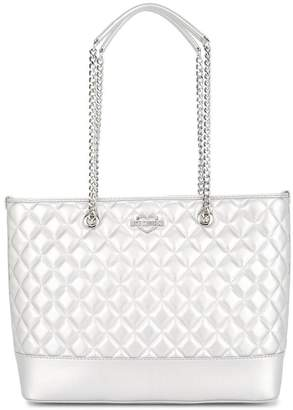 Love Moschino large quilted tote