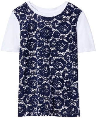 Tory Burch LACE-FRONT T-SHIRT
