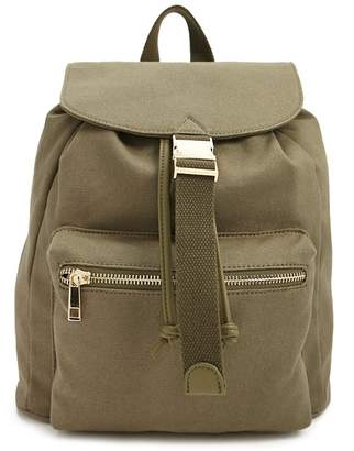 Forever 21 Canvas Flap-Top Backpack