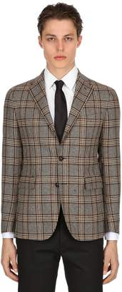 Tagliatore Single Breasted Wool Check Jacket