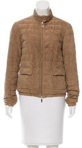 MonclerMoncler Delfi Suede Jacket