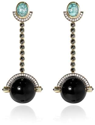 ara Vartanian Ball Onix Earrings