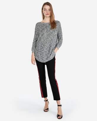 Express Petite Slub Extreme Circle Hem Tunic Sweater