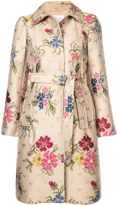 RED Valentino pixelated floral print raincoat