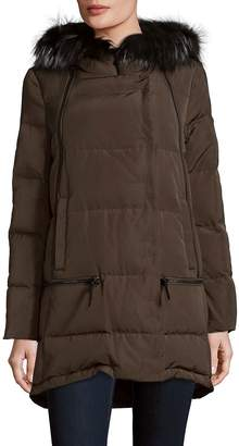 Derek Lam 10 Crosby Women's Relaxed Fox Fur Trim Parka