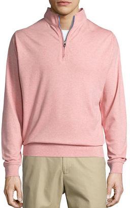 Peter Millar Heather Interlock Quarter-Zip Sweater $125 thestylecure.com