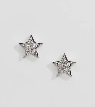 Ted Baker silver pave crystal stud earrings