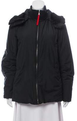 Prada Sport Hooded Down Coat