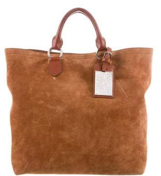 Ralph Lauren Leather Trim Suede Tote