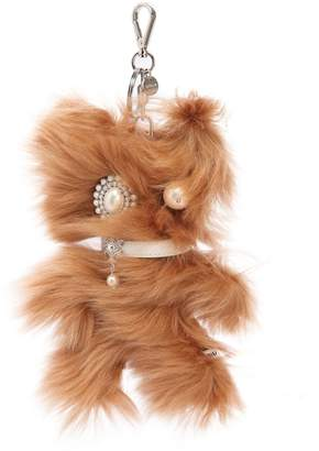 Miu Miu Embellished Monster Fur Keychain