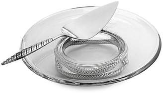 Nambe Braid Pedestal Cake Platter & Server