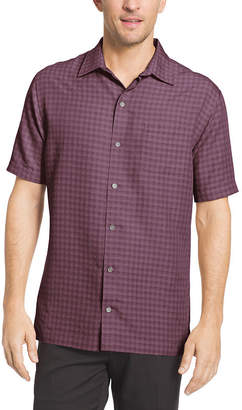 Van Heusen Short Sleeve Grid Button-Front Shirt