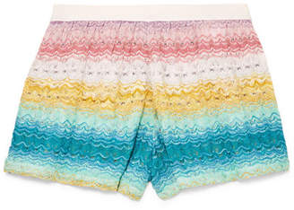 Missoni Mare Crochet-knit Shorts - White