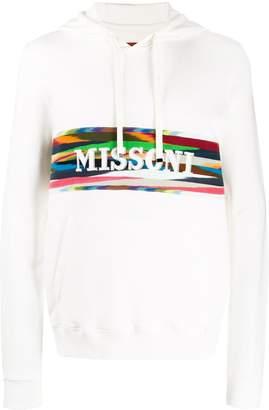 Missoni laser engraved logo hoodie