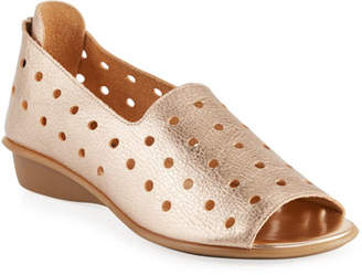 Sesto Meucci Edwina Perforated Leather Slip-On Flats