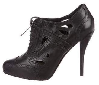 Christian Dior Brogue Lace-Up Booties Black Brogue Lace-Up Booties