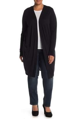 14th & Union Long Line Knit Cardigan (Plus Size)