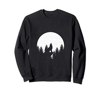 ff89ea461 Howling Wolf Night Forest Moon Cool Statement Graphic Tee
