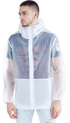 True Religion (トゥルー レリジョン) - True Religion Brand Jeans シースルー フーデッド フルジップ ブルゾン トランスルーセント xs