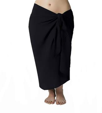 Sassy Plus Size Long Swimsuit Sarong Cover up with Built in Ties