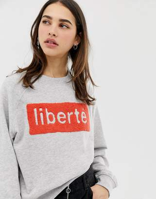 Only Lotta liberte print sweatshirt