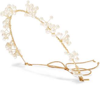 Jennifer Behr Primavera Gold-tone Swarovski Pearl Headband - One size