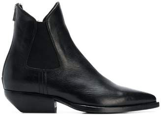 Officine Creative pointed panels ankle boots