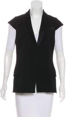 Haute Hippie Cap Sleeve Notch-Lapel Vest