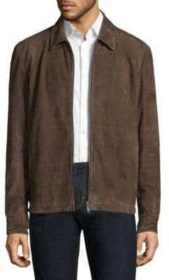 Theory Shirt Collar Leather Jacket