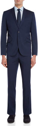 Kenneth Cole Reaction Two-Piece Navy Solid Iridescent Suit