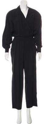 Bergdorf Goodman Wide-Leg Long Sleeve Jumpsuit