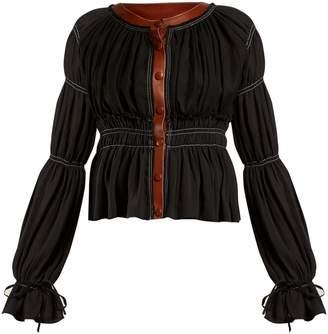 Goncourt round-neck gathered jacket