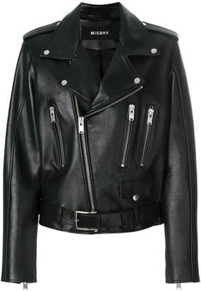 Misbhv back print biker jacket