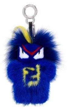 Fendi Fendirumi Bug-Kun Key Charm in Mink and Marble Fox