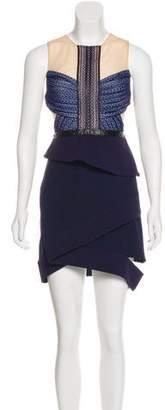 Three floor Lace-Accented Mini Dress