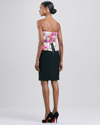 Rachel Roy Abstract Orchid Strapless Corset Dress